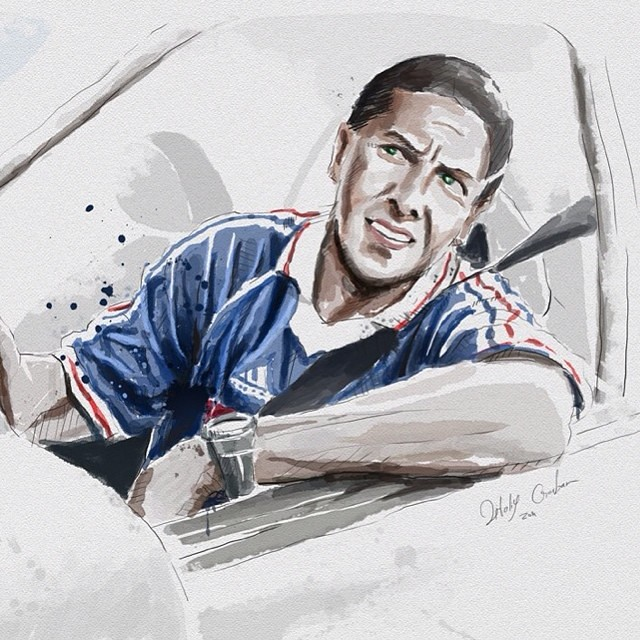 #illustration #portrait #samy_naceri #watercolor #actor #taxi #marceille #vitaliygorban_com