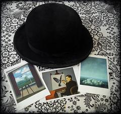 After Magritte (Calsidyrose) Tags: art hat image modernart surrealism postcard surreal icon bowler renemagritte surrelism menhilcollection