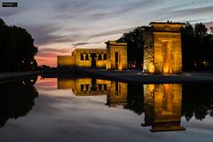 Templo de Debod (Madrid) (Gelert, el eterno aprendiz) Tags: madrid atardecer reflejo nocturna templo egipcio ltytr2 ltytr1 ltytr3