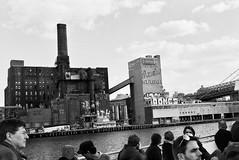 rip domino (sriazati) Tags: blackandwhite film brooklyn river factory sugar east domino