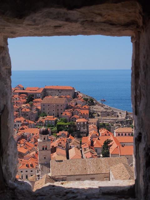 這是在明闕守望塔(Tvrdava Minceta)拍攝的Dubrovnik