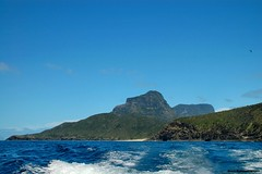 View to Blinky Beach, Mt Lidgbird & Mt Gower - Lord Howe Island Circumnavigation (Black Diamond Images) Tags: mountains island boat paradise mt australia cliffs nsw gower boattrip circumnavigation lordhoweisland worldheritagearea thelastparadise intermediatehill circleislandboattour lidgbirdmt