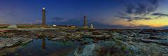 Phare d'Eckmhl (FH | Photography) Tags: sunset panorama lighthouse france frankreich brittany europa sonnenuntergang tide himmel stein phare leuchtturm ebbe finistre abends granit lephare pharedeckmhl bretgane frankherrmann pointedesaintpierre penmarch