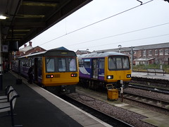 142015 Doncaster (Dancing is a waste, of drinking time.) Tags: doncaster southyorkshire dmu northernrail