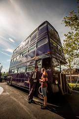 Knight Bus (brerwolfe) Tags: bus london magic harrypotter witchcraft usf themepark openingday grandopening 2014 wizardry diagonalley uor universalstudiosflorida knightbus wizardingworld universalorlandoresort tripledeckerbus wwohp diagonalleygrandopening
