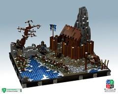 LoR Heroes' Guild A II - Into Garheim (Becheman) Tags: castle lego heroes lor guild povray ldd lenfald