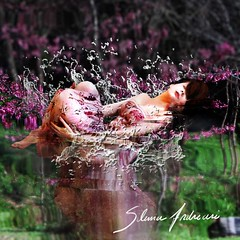 Between dream and reality is hidden an interdimensional hope... (Silvia Andreasi (Images Beyond Mirror)) Tags: woman blur reflection art water photomanipulation whimsy purple surrealism floating fantasy forgotten squareformat ethereal mystical splash mystic lightness whimsical dreamscape conceptualphotography creativeartphotography whimsicalphotography imagesbeyondmirror silviaandreasi