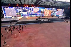 Scotland Glasgow opening ceremony commonwealth games Rod Stewart (Anne MacKay images of interest & wonder) Tags: scotland glasgow ceremony games stewart rod opening commonwealth