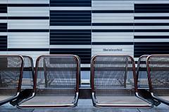 Seating (*Capture the Moment*) Tags: 2015 architecture architektur farbdominanz fotowalk highkey häuserwohnungen innenarchitektur insightview interiordesign munich münchen seats sitze sonya7m2 sonya7mii sonya7mark2 sonya7ii sonyfe1635mmf4zaoss sonyilce7m2 stationoberwiesenfeld subway ubahn black schwarz silber silver weiss white
