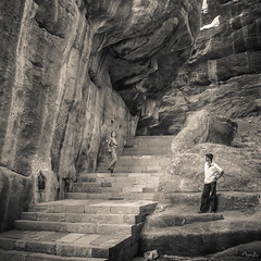 2006 India,  Badami 100.jpg (Mandir Prem) Tags: indians ancient wildlife asia backpakers india exotic travel bw outdoor temple nature places badami
