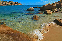 Tropical dreams (aussiegypsy_roaming Outback) Tags: waves tide tidal breaking shoreline shore beach beachside sea ebb flow water froth bubbles incoming rocks summer blue sky clear scene scenery landscape horseshoebay bowen whitsunday region coast eastern coralsea northern north coastal holiday tourism pristine qld queensland aussiegypsy lorraineharris australia australian aussie warm beautiful tropical tropics outdoors ripples rippled sunny sunlight bright