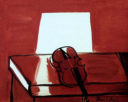 IMG_6255 Raoul Dufy. 1877-1953.  Paris.  Le Violon rouge. The red Violin. 1949. Musée d'Art Moderne André Malraux. . Le Havre.