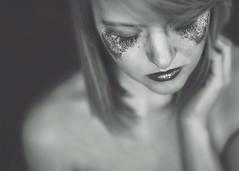Wk 13 (rainy_raynee) Tags: selfportrait self portrait 52week week13 blackandwhite bw canon canoneos6d 50mm adobephotoshop cs6 photooftheweek tuesday glitter