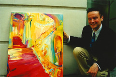 Artist Stephen B. Whatley & Royal Commission. 1999 (Stephen B. Whatley) Tags: buckinghampalace grandstaircasebuckinghampalace painting oilpainting oil man artist coventgarden london uk england royal palace interior expressionism expressionistart contemporaryart modernart art artworld smile stephenbwhatley artiststephenbwhatley stephenwhatley artiststephenwhatley whatley toweroflondonartist suited painter artistart londontransportmuseum londonunderground theroyalcollection scan 1990s nineties twentiethcentury abigfave anawesomeshot blueribbonwinner flickrunitedwinner towerhillunderpass lt londontransportltd