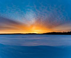 Sunrise at Irishtown Nature Park (James P. Mann) Tags: sunrise irishtown moncton new brunswick reservoir ice frozen spring lake water april