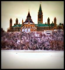 Canadian Parliament, Ottawa, ON, Canada (LuciaB) Tags: tangledfx canadianparliament ottawa winterinottawaontariocanada river ottawariver