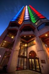 Montreal downtown (CloudPhotoz) Tags: montreal montréal downtown centre ville city buildingédifice olympic olympique street rue lights lumières hdr