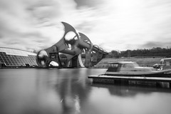 Rotation (Cary Strachan) Tags: scotland canal falkirk water wheel engineering architecture outdoor circle boat reflection monochrome nikon d7200 blackandwhite longexposure nd ndfilter