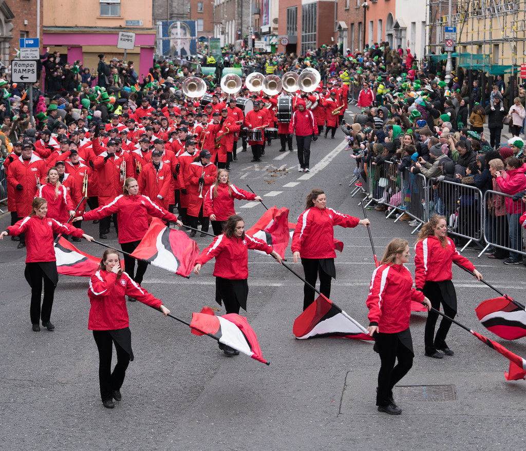 Illinois State University's Big Red Marching Machine [St. Patricks Parade 2017]-125847