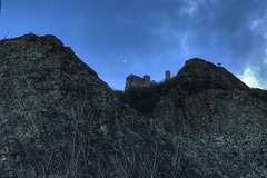 Sacra S. Michele (erripollo) Tags: iphone italy valsusa mountain rock wild cloud moon monastery sacra