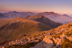 G O L D E N - R I D G E S (elganjones1) Tags: nantlle ridge snowdon snowdonia wales cymru eryri wyddfa elgan jones landscape light sunset craig cwm silyn