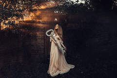 Unlocked (Adam Bird Photography) Tags: adambirdphotography adambird key prop timwalker rosiehardy door woods light rays conceptual surreal story narrative flickr fairy tale fairytale princess fineart giant orange