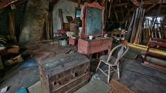 Rose's Farmhouse (57) (Darryl W. Moran Photography) Tags: urbandecay abandonedfarmhouse frozenintime leftbehind oldfarm urbex urbanexploration darrylmoranphotography oldfurniture