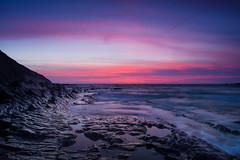Alien planet 👽 (SimonLea2012) Tags: gold red planet alien dusk beach rocks light cornwall sunset