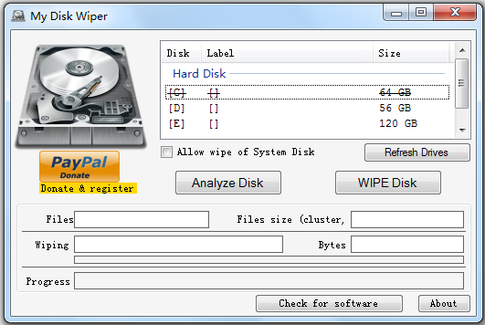 My Disk Wiper(硬碟徹底格式化工具) V1.10 綠色英文版