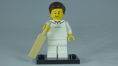 Brick Yourself Custom Lego Figure Cheerful Cricket Player