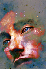 109 (photoshepherd) Tags: space galaxy galaxies face portrait eyes colour color smudge muddy spacey 365