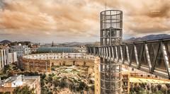 (173/17) Ascensor panorámico y Anfiteatro (Pablo Arias) Tags: pabloarias photoshop photomatix nxd españa cielo nubes arquitectura anfiteatro ascensor panorámico cartagena murcia comunidadmurciana