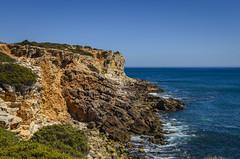 Martinhal coastline 1760 (_Rjc9666_) Tags: algarve beach cliffs coastline colors landscape nikkor35mm18 nikond5100 portugal praia rockformation sea seascape ©ruijorge9666 sagres farodistrict pt