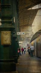 your train (silviaON) Tags: train station portugal city porto estaçãodesãobento caminhoportugues textured kerstinfrankart