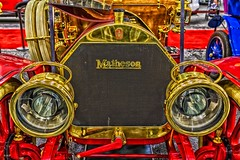 Matheson-Deep Gold (Kool Cats Photography over 8 Million Views) Tags: gold classic carshow oklahomacitycarshow oklahoma vintage matheson grill headlamps indoor vehicle hdr