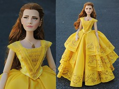 Custom LE 17in Belle! (They Call Me Obsessed) Tags: beautyandthebeast beauty belle doll dolls barbie disney store limitededition 17inch emma watson 2017 new rare