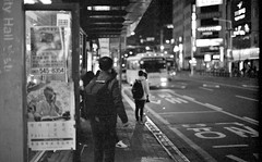 Waiting... (HARU1231) Tags: streetphoto snapshot street snap candid streetportrait city urban blackandwhite monochrome bw nikonf3 selfscan epson v700 people life southkorea