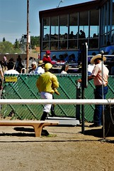 20170311 Rider Stepping on the Scale at the Rillito Race Track (lasertrimman) Tags: 20170311 rider stepping scale rillito race track