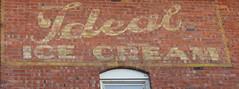 Ideal Ice Cream (jimsawthat) Tags: icecream vintagesign brick ghostsign smalltown leclaire iowa