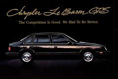 1986 Chrysler LeBaron GTS (aldenjewell) Tags: 1986 chrysler lebaron gts postcard
