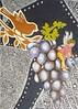 ATC1337 - On a ride (tengds) Tags: atc artisttradingcard artcard handmadecard card collage handmadepaper black silver bird goldenbird fairy grapes ride leaves green purple red papercraft tengds
