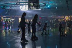 Dark Skate (aaronrhawkins) Tags: skate skating rink circle classicfuncenter sandy utah dark disco scooter kids children lights wheels fun crowd crowded busy packed family kellie jessica aaronhawkins