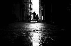 After the rain (elgunto) Tags: barcelona elborn street streetphoto highcontrast blackwhite bw rain people sonya7 sonyfe55mm18