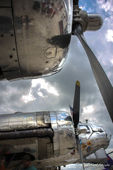 WWII B-17 bomber Yankee Lady (calkothrade2) Tags: b17bomber warbirrd wwii eighth airforce aviation chrome blue sky clouds propeller guns cannons yankee lady