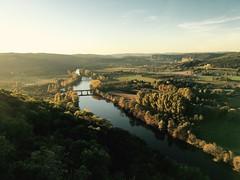 (SAO 76155) Tags: bridge pont verdoyant landscape naturepaysage beautiful magnifique beaut dordogne river riviere plaine goldenhour coucherdesoleil sunset correze france domme