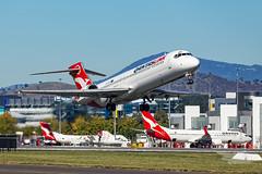VH-YQX QF B717 35 YSCB-6699 (A u s s i e P o m m) Tags: qantaslink canberra australiancapitalterritory australia au qlk qantas qf boeing b717 cbr yscb canberrainternationalairport