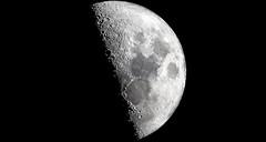 Demi-lune (Amanclos) Tags: moon firstquarter astro astronomy astrophotography night telescop celestron lune demilune indianajones nuit ciel astronomie