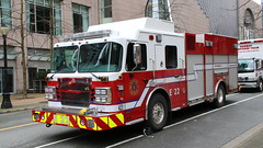 Vancouver Engine 22 (bcfiretrucks) Tags: vancouver fire department truck marked red fd fireman bc british columbia canada canadian photography trucks firetruck spartan smeal engine pumper pump sirius gladiator