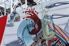 IMG_8234 Glass splash (Rodolfo Frino) Tags: glass splash streetart wine redwine whitewine fork spoon tray red salt pepper