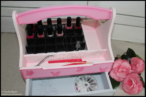 "Caixa para vernizes e manicure ""Girly Beauty Secrets"""